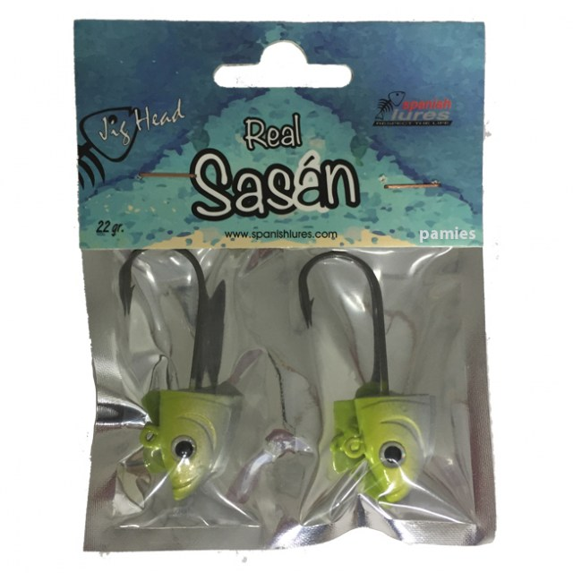 tienda pesca deportiva,señuelos,señuelos de vinilo,Spanish Lures Blister Jig Head color Magic Yellow